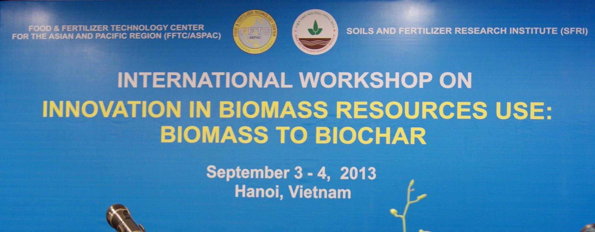 International Workshop on Innovation in Biomass Resources Use: Biomass to Biochar